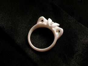 Arc Ring in White Processed Versatile Plastic