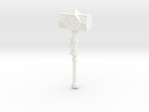 Iron Sledge Hammer in White Processed Versatile Plastic