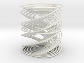 Edward's Curve Time Helices in White Natural Versatile Plastic
