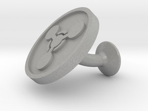 SINGLE Cufflink for CHEM - Chemical Hazard in Aluminum