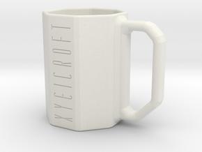 Pythagoras Mug in White Natural Versatile Plastic