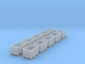 TJ-H02025 - Caisses-Palettes bois ouvertes in Smooth Fine Detail Plastic