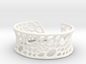 Bamboo Cuff in White Strong & Flexible Polished: Small