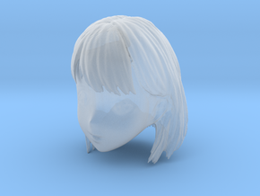 1/10 Girl's Head Short Hair in Smooth Fine Detail Plastic
