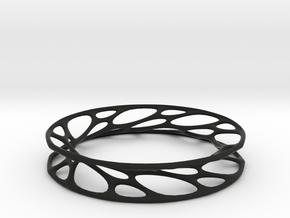 Convolution Bangle in Black Natural Versatile Plastic: Large