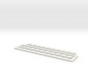 20 Fun Slide Lights Ho Scale in White Natural Versatile Plastic