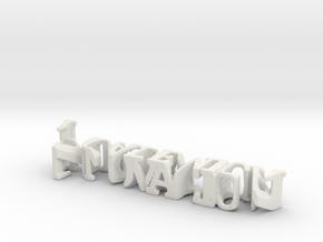 3dWordFlip: Innovacion/Academica in White Natural Versatile Plastic