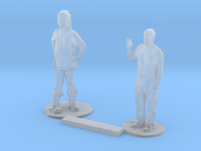 O Scale Standing Kids 8 in Smooth Fine Detail Plastic