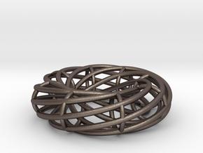 Torus in Polished Bronzed Silver Steel