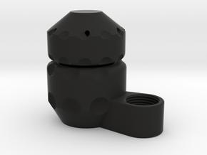 """ECM Boring Cap Set - 1.125"""" x 0.1875"""" - 3/8"""" NPT in Black Natural Versatile Plastic"""