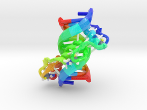 Zinc Finger bound to DNA in Glossy Full Color Sandstone