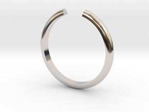 Open Ring in Rhodium Plated Brass