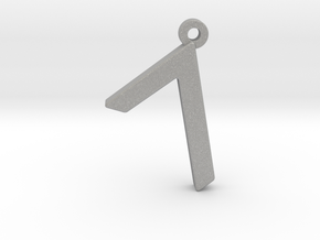 Letter GIMEL - Paleo Hebrew - With Chain Loop in Aluminum