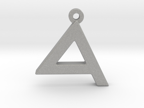 Letter DALET - Paleo Hebrew - With Chain Loop in Aluminum
