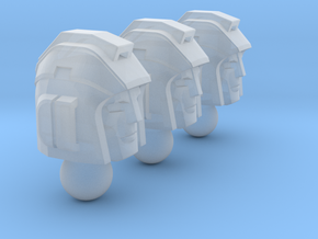Camera Crew Heads in Smooth Fine Detail Plastic