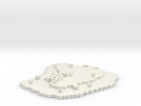 Land Platform Base in White Natural Versatile Plastic