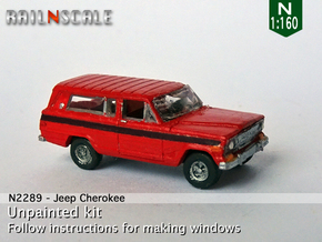 Jeep Cherokee (N 1:160) in Smooth Fine Detail Plastic