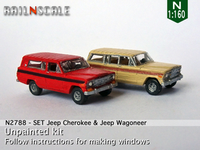 SET Jeep Cherokee & Jeep Wagoneer (N 1:160) in Frosted Ultra Detail