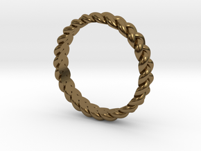 ring pigtail in Polished Bronze: 10.25 / 62.125