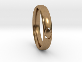 Simple Ellipse Ring in Natural Brass