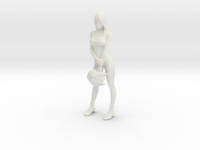 1/10 Female Pilot in White Natural Versatile Plastic