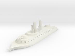 1/700 Sondor River Cruiser, Round Casemate in White Natural Versatile Plastic