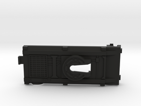 Cab Over Side Switch Battery Cover in Black Natural Versatile Plastic