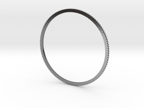 New Ingranaggio Bangle - Slim Version in Polished Silver