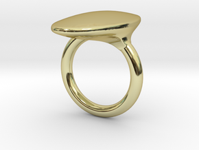 OvalRing - SIZE 10 US in 18k Gold Plated Brass: 10 / 61.5