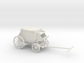 O Scale Stagecoach in White Natural Versatile Plastic