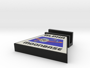 Business Card Holder, Space: 1999 = DESKAPADES = in Full Color Sandstone: Small