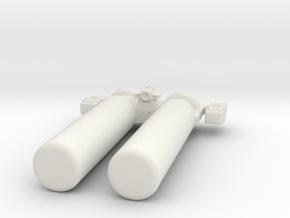 Omni Scale General Salvage Tug with Pods SRZ in White Natural Versatile Plastic