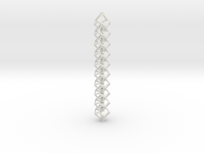Anti-Diamond Tube Chain, 10 Links in White Strong & Flexible