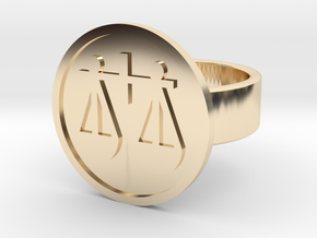 Scales Ring in 14k Gold Plated Brass: 8 / 56.75