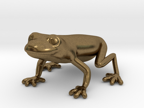 Red Eyed Tree Frog in Natural Bronze