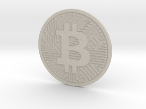 Bitcoin (2.25 Inches) in Natural Sandstone