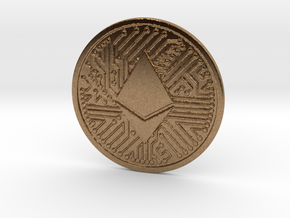 Ethereum (2.25 Inches) in Natural Brass