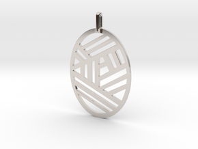 The Bonnie Pendant in Rhodium Plated Brass