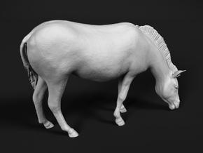 Plains Zebra 1:48 Grazing Female in White Natural Versatile Plastic
