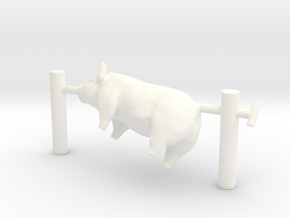 O Scale Pig On A Spit in White Processed Versatile Plastic