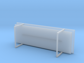 Miniature Rissna Coffee Table Version 1 - IKEA in Smooth Fine Detail Plastic: 1:12