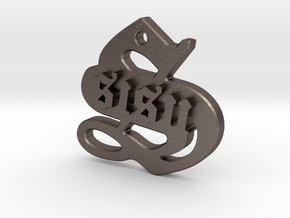 SISU (steel pendant) in Polished Bronzed Silver Steel