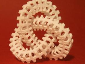 Escher knot medium in White Natural Versatile Plastic