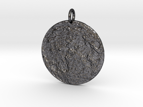 Moonscape Pendant in Polished and Bronzed Black Steel
