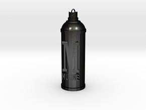 Spray Can Pendant in Matte Black Steel