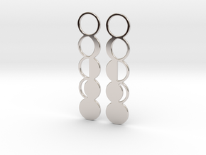 Moon Phase Earrings in Rhodium Plated Brass
