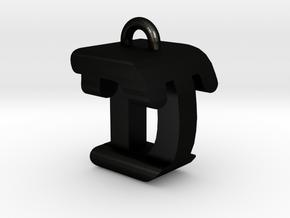 3D-Initial-DT in Matte Black Steel