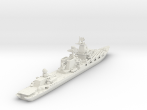 1/600 Slava Missile Cruiser in White Natural Versatile Plastic