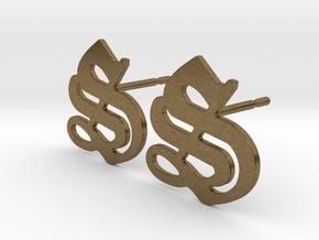 SISU (precious metal stud earrings) in Natural Bronze