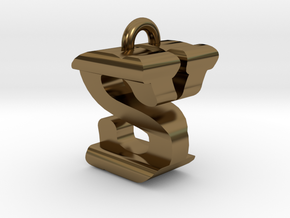 3D-Initial-SY in Polished Bronze